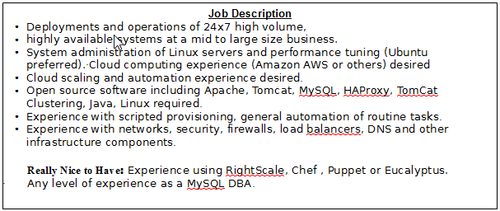 Cloud job description